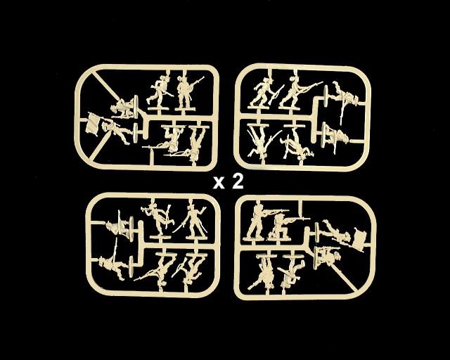 Italian Bersaglieri -- 48 pieces (AP015) <FONT COLOR=#CC0000>(25mm) </FONT>