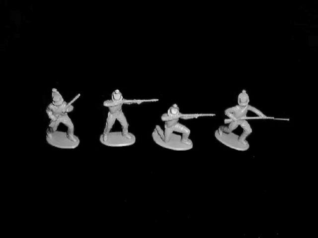 Brunswick Advant Garde 16 figures in 4 poses (gray) (9002)  <font color=#CC0000>(54mm) </FONT>
