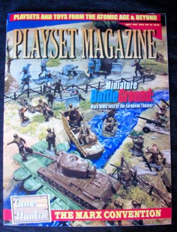 Playset Magazine#53 Marx Miniature WWII battleground+other WWII sets