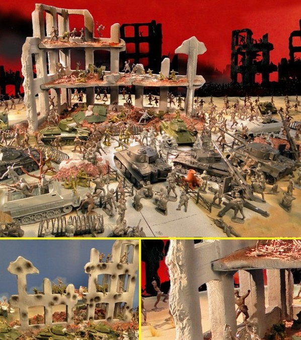 Stalingrad Playset - 210 pieces --- (s&h $55) <FONT COLOR=#CC0000>(54mm) </FONT>