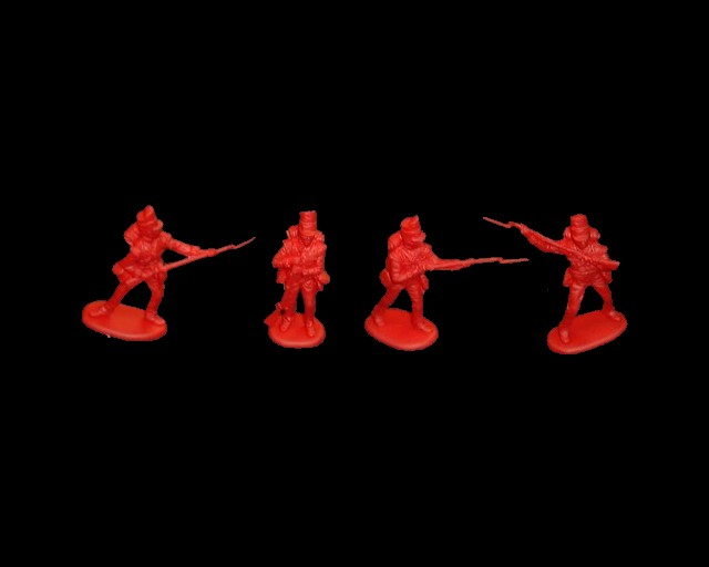 British Foot Guards 8 figures in 4 poses  (red)  (series 12) <font color=#CC0000>(54mm) </FONT>