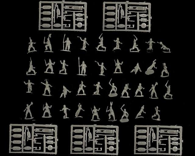 Celtic Warriors -- 116 pieces  (064)  <FONT COLOR=#CC0000>(25mm) </FONT>