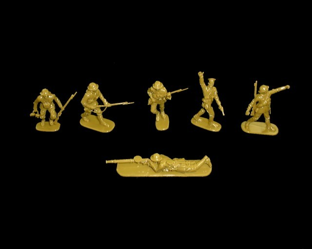 WWI British Infantry 12 figures in 6 poses (3501)   <font color=#CC0000>(54mm) </FONT>