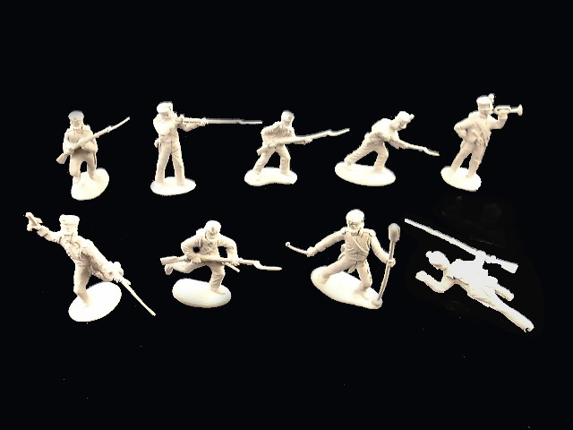 Mexican / Napoleonic Infantry  2nd series 12 figures in 9 poses (white) <FONT COLOR=#CC0000>(54mm) </FONT>