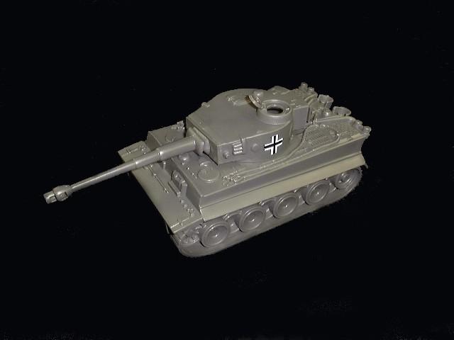 German Tiger I tank (gray w/insignia)  <font color=#CC0000>(54mm) </FONT>