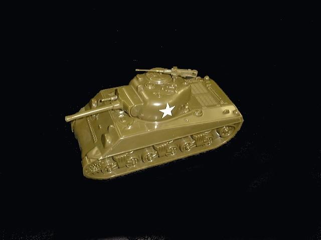 WWII American Sherman Tank M4 (green w/insignia)  <font color=#CC0000>(54mm) </FONT>