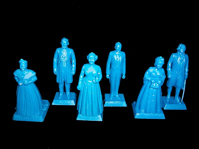 Presidential Inaugural figures -- George & Martha Washington, Abraham & Mary Todd Lincoln, Dwight and Mamie Eisenhower <FONT COLOR=#CC0000>(60mm) </FONT>