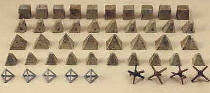 Anti-Tank Obstacles (6147) <FONT COLOR=#CC0000>(25mm) </FONT>