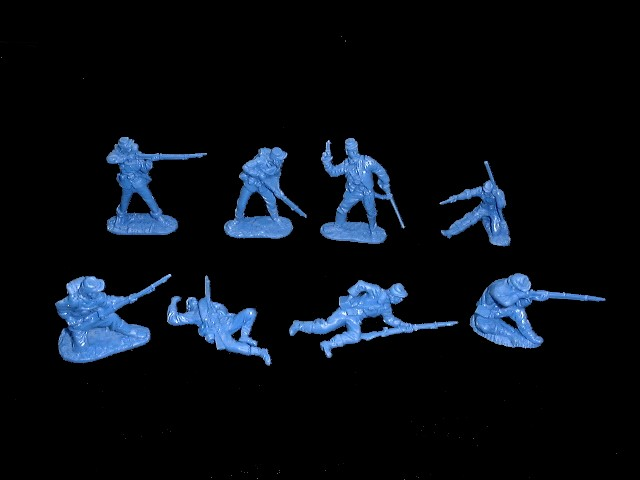 Union Infantry 16 figures in 8 poses (blue) <FONT COLOR=#CC0000>(54mm) </FONT>