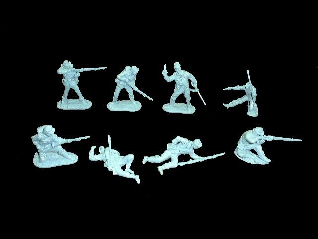 Civil War Union Infantry 16 figures in 8 poses (light blue) <FONT COLOR=#CC0000>(54mm) </FONT>