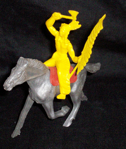 Timmee Toy soldiers original mounted Indian+horse+blankett-(60MM)