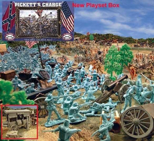 Giant Pickett's Charge Playset --- 540 pieces --- (s&h $35) <font color=#CC0000>(54mm) </FONT>