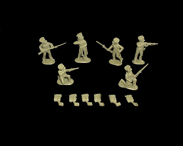 Wurttemberg Jaeger 18 figures  in 6 poses (9306) <FONT COLOR=#CC0000>(54mm) </FONT>