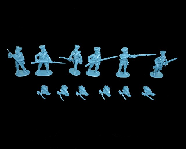 Prussian Infantry -- combat 18  figures in 6 poses (9318)<FONT COLOR=#CC0000>(54mm) </FONT>