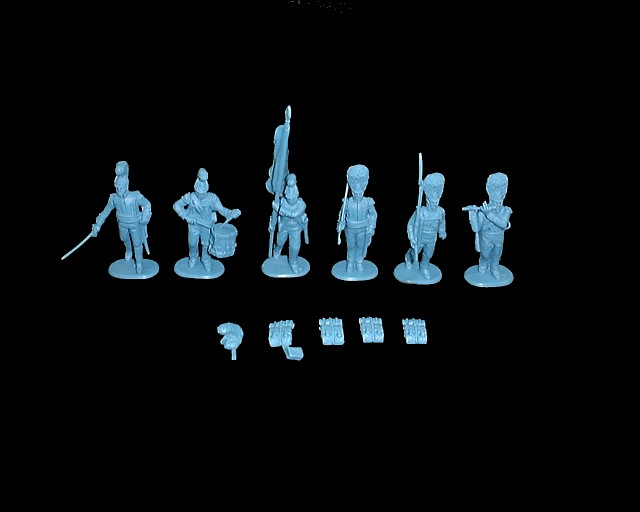 Wurttemberg Command  18 figures in 6  poses (blue) (9307) <FONT COLOR=#CC0000>(54mm) </FONT>