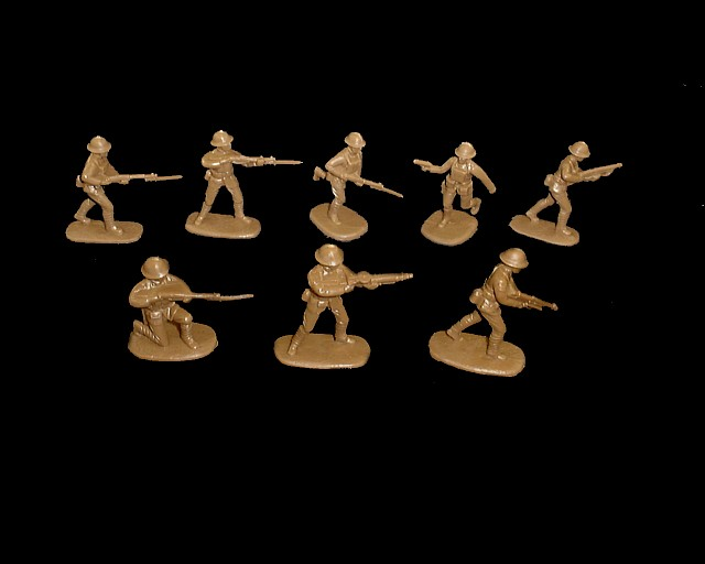 WWI US Marines 16 figures in 8 poses (5405) (green) <FONT COLOR=#CC0000>(54mm) </FONT>