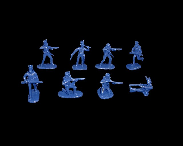 American Infantry Rifles 16 figures in 8 poses (blue) (5506)<FONT COLOR=#CC0000>(54mm) </FONT>