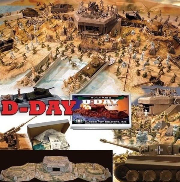 D-Day Playset --- 240 pieces --- (shipping $45 two box set) <font color=#CC0000>(54mm) </FONT>