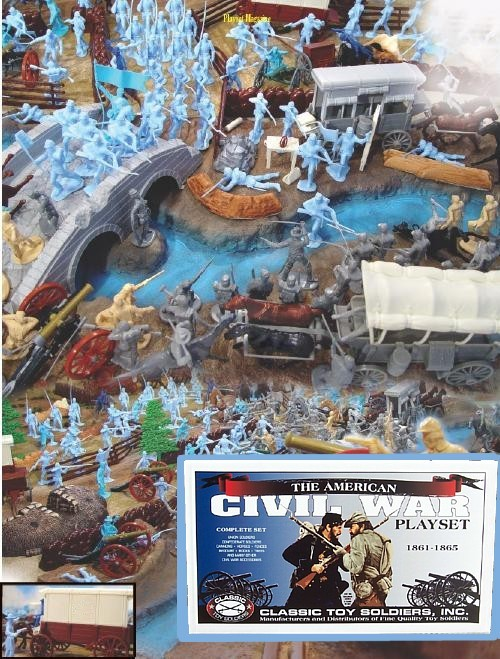 Giant Battle of Antietam --- 250 pieces --- (Shipping $45 Two box set) <font color=#CC0000>(54mm) </FONT>