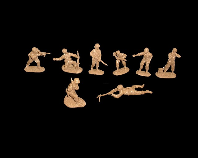 US Infantry set #2 16 figures in 8 poses (tan)  <FONT COLOR=#CC0000>(54mm) </FONT>