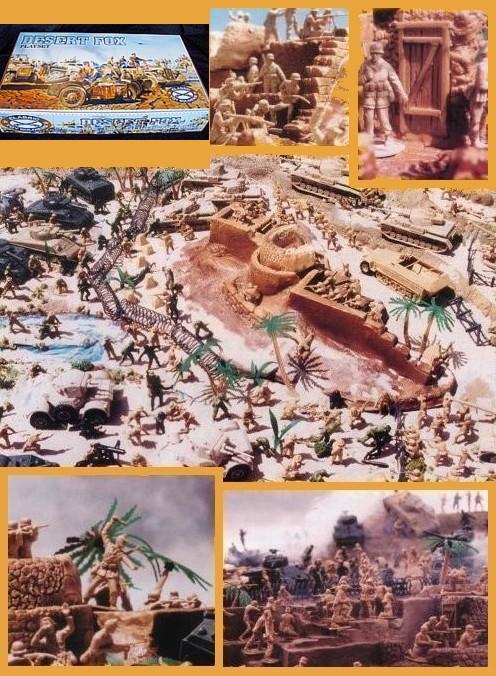 Desert Fox Playset --- 244 pieces --- (s&h $45) <font color=#CC0000>(54mm) </FONT>