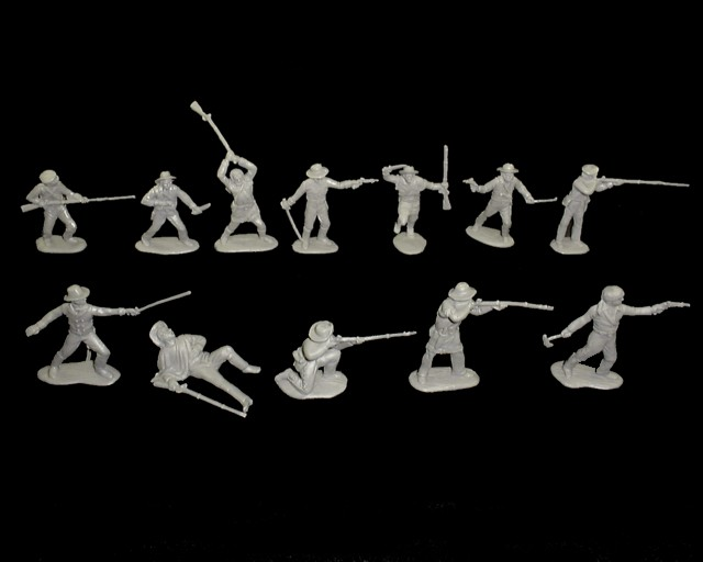 Texans 12 figures in 12 poses (gray) <font color=#CC0000>(54mm) </FONT>