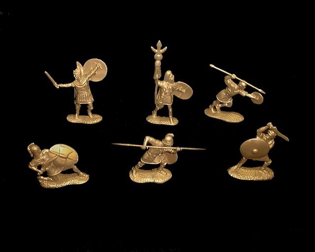 Punic Wars Carthaginians 12 figures in 6 poses (bronze)  <font color=#CC0000>(54mm) </FONT>