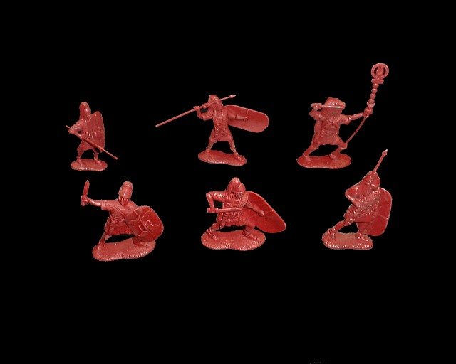 Romans 12 figures in 6 poses (red)  <font color=#CC0000>(54mm) </FONT>