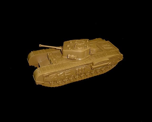 British Churchill Tank (British brown)  <font color=#CC0000>(54mm) </FONT>