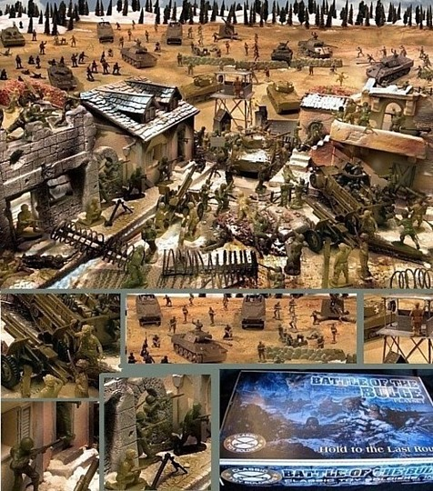 Battle of the Bulge --- 242 pieces --- (Shipping $45--Two box set)  <font color=#CC0000>(54mm) </FONT>
