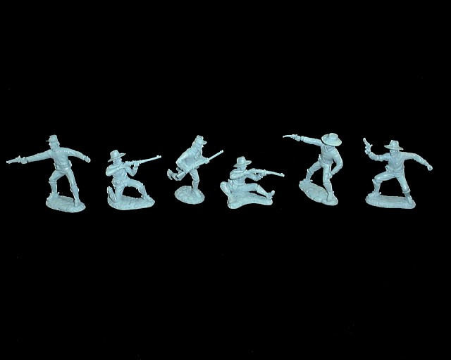 Dismounted Cavalry 12 figures in 6 poses (light blue)<font color=#CC0000> (54mm) </FONT>