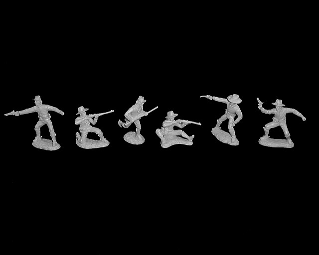 Dismounted Cavalry 12 figures in 6 poses (gray)<font color=#CC0000> (54mm) </FONT>