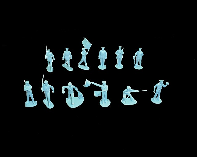 Marines and Sailors 25 figures in 12 poses (Light Blue) <FONT COLOR=#CC0000>(45mm) </FONT>