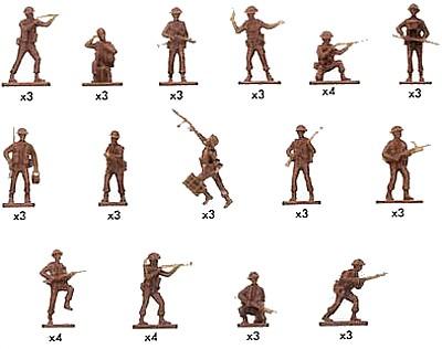 British Infantry  -- 48 pieces  (1763) <FONT COLOR=#CC0000>(25mm) </FONT>