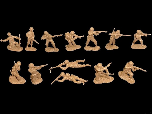 US Infantry 26 figures in 13 poses (tan) <FONT COLOR=#CC0000>(54mm) </FONT>