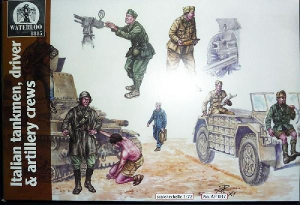 Italian Tankers & Artillery Crews -- 18 pieces (037)<FONT COLOR=#CC0000>(25mm) </FONT>