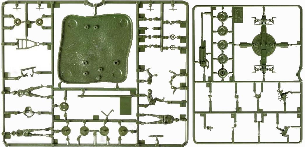 Russian 85mm Anti-Aircraft Gun w/4 Crew -- 47 pieces (6148) <FONT COLOR=#CC0000>(25mm) </FONT>