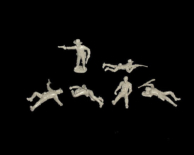 Dismounted Wounded Cavalry 12 figures in 6 poses (gray) <FONT COLOR=#CC0000>(54mm) </FONT>
