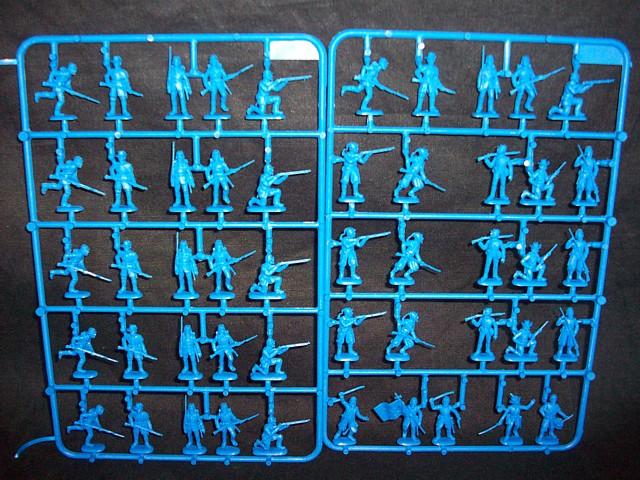 Union Infantry w/Zouaves -- 50 pieces (6012) <FONT COLOR=#CC0000>(25mm) </FONT>