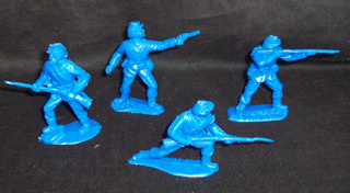 Timpo Civil War Union, 1/32nd, dark blue, 12 in all 4 poses