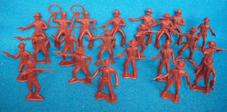 Western cowboys by MPC, (54mm), 22 figures in 8 poses brow3