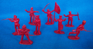 British Infantry 14 figures in 8 poses (red) <FONT COLOR=#CC0000>(54mm) </FONT>