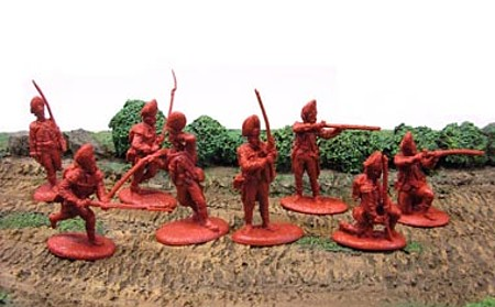 British Grenadiers 16 figures 8 poses (red) <FONT COLOR=#CC0000>(54mm) </FONT>