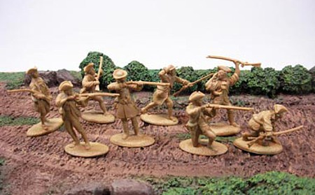 Colonial Minutemen 16 figures in 8 poses (blue) <FONT COLOR=#CC0000>(54mm) </FONT>