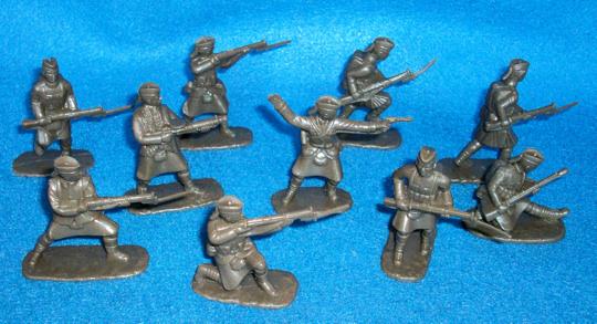 WWI Scottish Highlanders 20 figures in 10 poses (brown) (5407) <FONT COLOR=#CC0000>(54mm) </FONT>