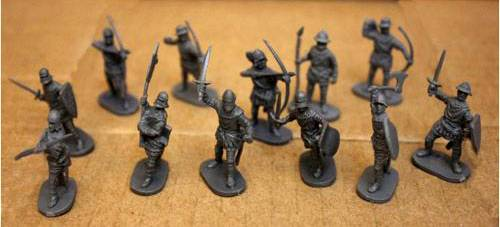 Caesar 15th Century European Medieval Foot Soldiers and Archers 34 pieces-25mm-HO-1/72 scale