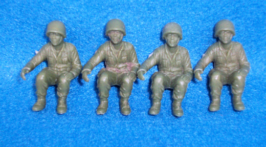 Marx original WWII seated US Marines (54mm) light green