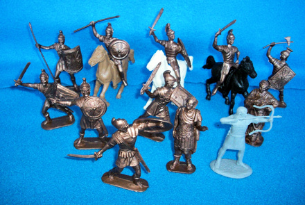 JEC108A Roman cavalry+infantry (65mm) (bronze)
