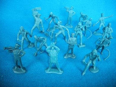 Timme Toy vintage US Airforce figures,15 figures in all 12 poses, blue (60mm)