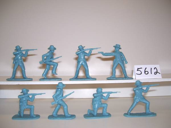 Spanish American War 1898 Spanish Regular Infantry lt blue (5612) 16 figures in 8 poses (54mm) in (horizon blue)